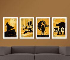 Pop Art Movie Art Prints. Star Wars Poster Troops by SparkleBarley