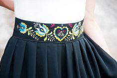 Čierna folk sukňa Folk Costume, Costumes, Girl Fashion, Womens Fashion, European Countries, Sewing, Skirts, Belt, Weddings