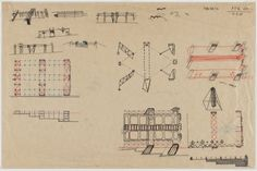 Cedric Price. Potteries Thinkbelt Project, Staffordshire, England (Sketches of Pitts Hill, Early Transfer Area). 1964–1966