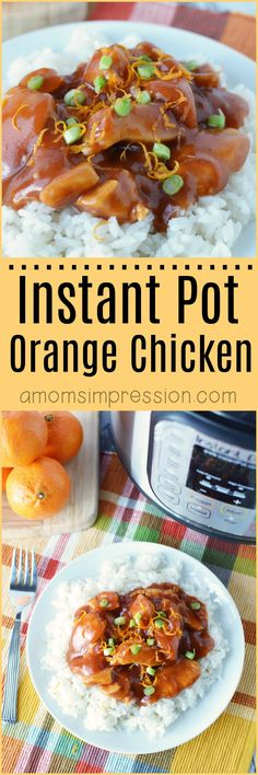 Instant Pot Orange Chicken Looking for the best orange chicken recipe? This version is super easy with crispy chicken and the most delicious sauce you have ever had! While this is an Instant Pot / Pressure Cooker recipe there are also instructions for your slow cooker. #orangechicken #InstantPotRecipe