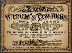 Apothecary Label Halloween Witch Potion Vintage Digital Download Collage Sheet Poison Tags Scrapbook. $2.25, via Etsy.