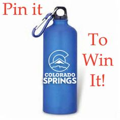 Repin to #win this eco-friendly aluminum #ColoradoSprings water bottle!