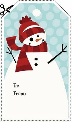 frosty! printable tag