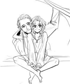 Legolas and Young Aragorn(Estel)
