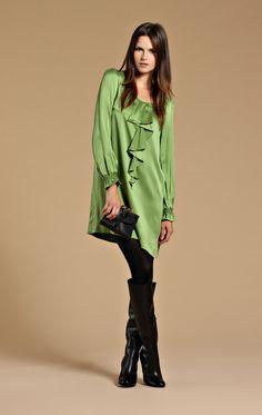 #green #silk #dress by Edith & Ella for 113 Euro