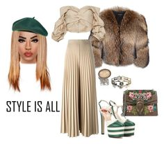 """""""STYLE IS ALL"""" by jsf-nyc ❤ liked on Polyvore featuring Adrienne Landau, Gucci, Givenchy, Johanna Ortiz, Alexander McQueen and Yves Saint Laurent"""
