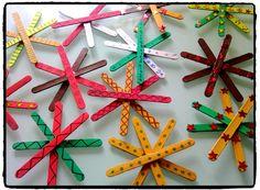 bricolage de noel, étoiles de noel, bricolage enfant, batonnet en bois