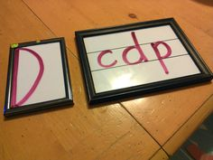 Homemade handwriting without tears materials.  great idea for transferring letters to writing lines