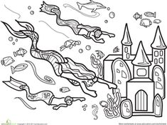 Castles colouring pages Fairy