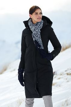 Women's Commuter Down Long Coat from Lands' End