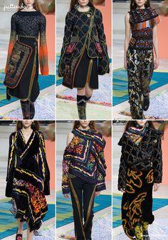 Peter Pilotto – Fall 2017 – RTW – London Fashion Week – Print & Pattern Highlight | Patternbank