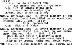 Auckland Star 7/05/1945 Killed In Action, Time Heals, Always You, Do Love, In Loving Memory, May 7th, Auckland, Family History, Star