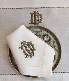 Shown is Francesca 2 Letter Monogram-Signature Collection-Letter color is Earthen Tan, Outline is Dark Chocolate.