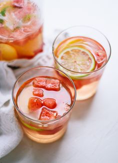 Watermelon white sangria recipe (make some before summer ends!) cookieandkate.com