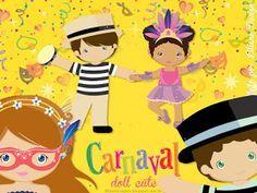 Bonecos cute: com roupa de carnaval