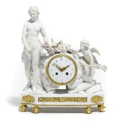 Bonhams : The Elegant Home reloj en porcelana biscuit y bronce dorado, siglo 19, 16 noviembre 2016.