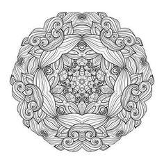 Estrella de contorno monocromo hermosa Deco — Vector de stock