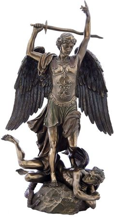 Saint Michael From Fountaine Religious Figurine Statue Sculpture Statuary-Home Décor-Decorations-Christian Related Gifts-Available for Sale at AllSculptures.com