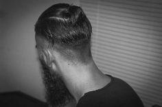 David Franklin model man bun top knot hairstyle