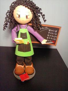 Manualitats Eva's: fofucha senyoreta de primaria