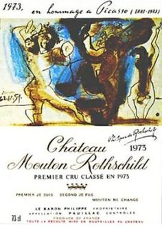 Mouton Rotschild 1975, by Panlo Picasso