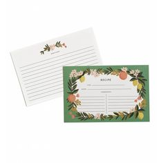 Citrus Floral Recipe Cards by Rifle | Cards and Refills Gifts | chapters.indigo.ca