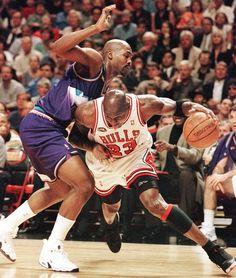 Michael Jordan Chicago Bulls Bryon Russell Utah Jazz
