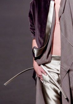 Fashion details | Comment: Velvet Polished in Satin. Haider Ackermann.