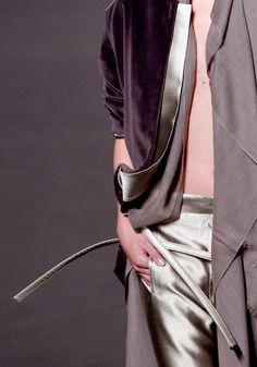 Fashion details | Comment: Velvet Polished in Satin. Haider Ackermann.