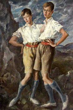 Thomas Francis Jeune And Hanmer Cecil Hanbury by Augustus Edwin John