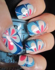 Captivating Claws: OPI Euro Centrale Water Marble