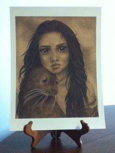 SALE Selkie 9x12 Print by LauraBoyea on Etsy, $9.00