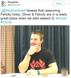 #Olicity tease from Stephen Amell! #Arrow #SDCC2017