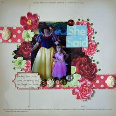 She Said 12x12 layout by May Flaum, June kit Project idea
