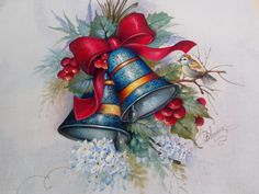 Olá pessoas queridas,como estão? tudo bem ? por aqui estamos seguindo,graças a Deus.  Hoje venho lhes mostrar um presente que ganhei no aniv... Retro Christmas, Christmas Colors, Christmas Holidays, Christmas Drawing, Christmas Paintings, Christmas Scenes, Christmas Cards, Ornament Tutorial, Christmas Characters
