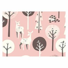 the new design collection from finland based company polkka jam is centred around the theme of a wintry forest. The Talviuniset collec. Pattern Illustration, Illustration Animals, Forest Friends, Oh Deer, Pretty Patterns, Pattern Design, Pattern Ideas, Surface Pattern, Background Patterns