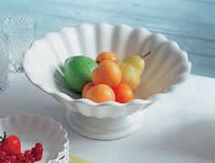 Villeroy & Boch Country Heritage footed fruit bowl    I like the simpleness of this white bowl. The fruit makes it lively. I also would use this bowl to serve salad at the dinner table