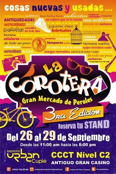 3RA Edición de LA COROTERA  Espacios Urban Cuplé, CCCT Caracas, Venezuela