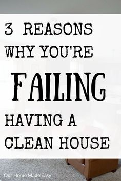 3 reasons why it's so hard to work and keep a home clean! A working mom gives a few solutions to keeping a home clean (mostly)! Click to see them all