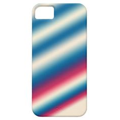 Blue White Stripes |: add text or image iPhone 5 Cover