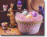 Clay pot Easter centerpiece.  Cute!