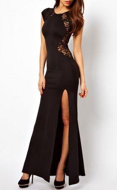 vestido longo preto de voil da zara