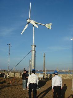 http://netzeroguide.com/how-to-make-a-wind-turbine.html Designs, tutorials and practical information about how to build a wind powered generator which actually supplies a source of electricity right at home. A really good place to begin if you are thinking about producing your very own wind power. small wind turbine Windspot in Penghu University