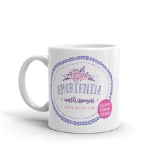 Start every day with a Harry Potter Potion! This line of fun mugs feature potions from the Harry Potter universe. Its magic in a cup!  This mug features the worlds strongest love potion, Amortentia, and a warning to use with extreme caution! Amortentia can cause powerful obsession, so be wary.  Makes a great gift for Harry Potter fans!  - - -  Check out my collection of mugs to see what other potions you can transform your morning coffee into. https://www.etsy.com/shop/hap...