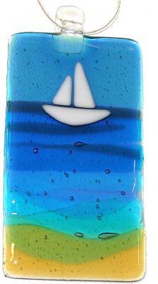 Fused Glass Yacht Lightcatcher
