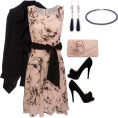 love the dress, shoes and purse