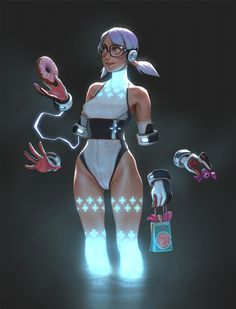 ArtStation - Animated girls collection, Gui Guimaraes