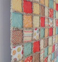 """Fig Tree """"Whimsy"""" rag quilt"""