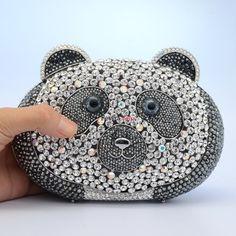 2013 New Design Luxury fashion party Panda Clutch Bag Purse Swarovski CrystalsPrice $359.95