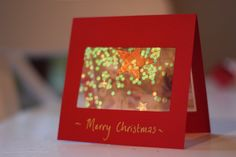 Pretty Christmas card - laminated confetti in a clear window. Christmas Presents, Christmas Time, Christmas Crafts, Xmas, Diy And Crafts, Crafts For Kids, Paper Crafts, Brownie Guides, Glitter Confetti